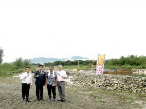 会津大川三本松ヤナ場あす9月1日(土)オープンします。('ω')ノ